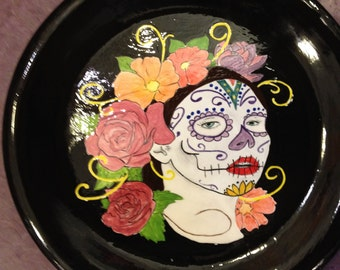 day of the dead dinner plate 10  & Skull dinner plate | Etsy