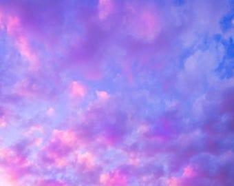 Pink Clouds Print, Pink Sky Print, Cloud Photography, Sky Photo, Cloud Picture, Sky Picture, Cloud Photo, Blue Sky Print, Sky Print, Nature