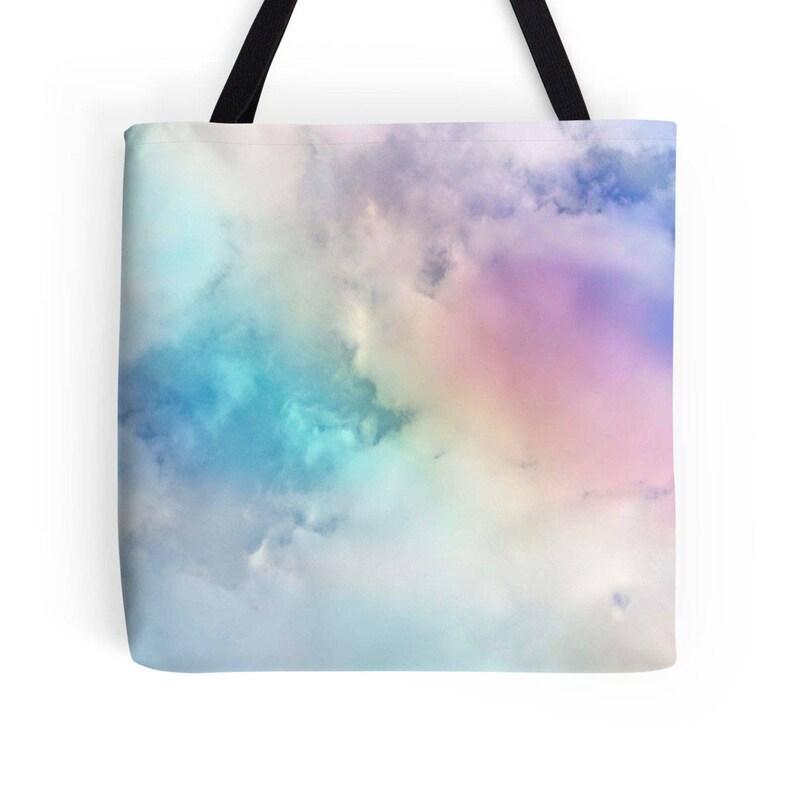 78abf7f17e Rainbow Tote Cloud Tote Rainbow Bag Sky Bag Rainbow Tote