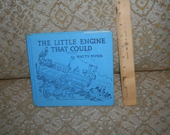"""Rare 1954 """"The Little Engine that Could"""" by Watty Piper!  Illustrated by George & Doris Hauman!  Platt Munk Company New York!  Blue Cover!"""