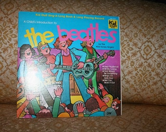 """Rare 1978 BEATLES Vinyl Album """"The Child's Introduction to the Beatles"""" Kid Stuff Records!  Complete!"""