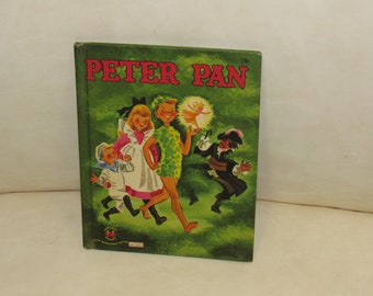 "Vintage Mid-Century 1952 ""Peter Pan"" Golden Book!  Captain Hook, Tinkerbell, MORE!!"