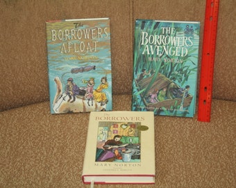 "Vintage 1980s ""The Borrowers"" Trio of Books!  ""The Borrowers Afloat"" ""The Borrowers Avenged"" & 50th Anniversary Edition!  HC / DJ!"