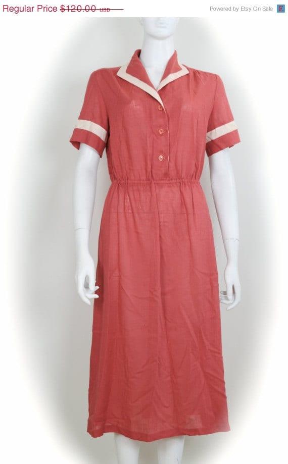 ON SALE Sailor Dress / 1960s Sailor Dress / Nautic