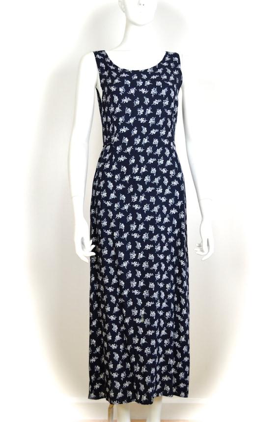 ON SALE 90s grunge dress: long floral grunge / di… - image 2