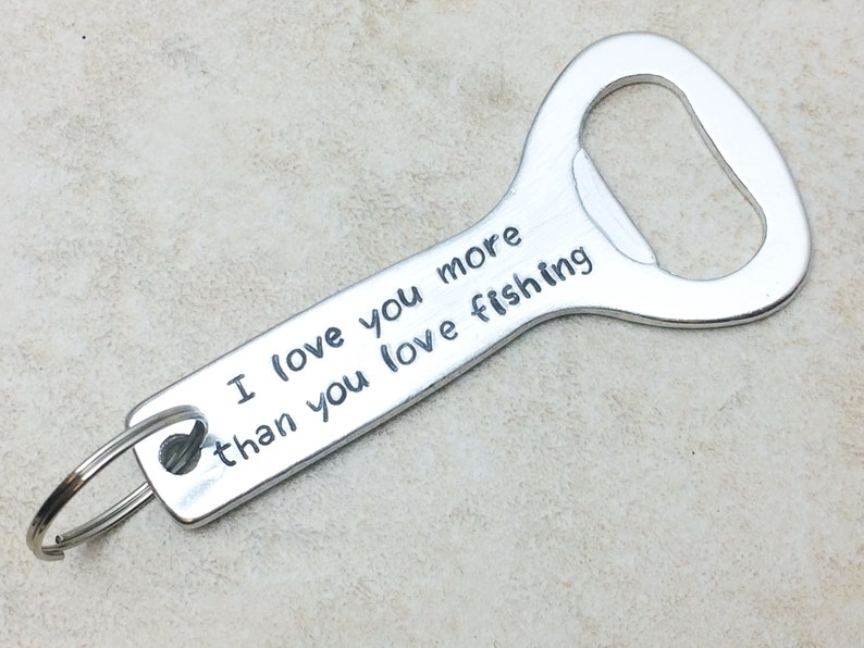 Personalised Any Message Keyring Bottle Opener Gift For Men Father/'s Day