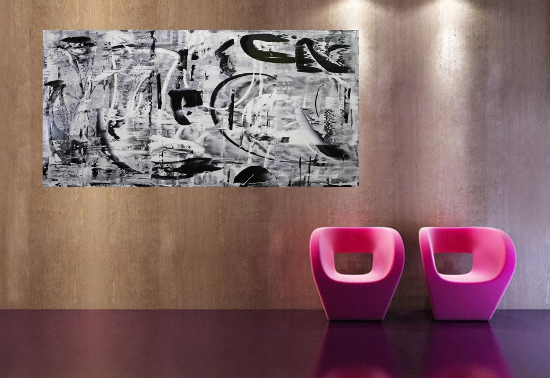 xxl abstrakt art painting 80 x 40 inch 200 x 100 cm etsy. Black Bedroom Furniture Sets. Home Design Ideas