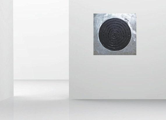 Acryl op aluminium xxl abstract kunst schilderij 35 x 35 x for Schilderij op aluminium