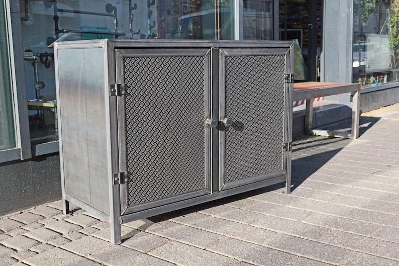 steel, industrial design sideboard shelf TV cabinet Cupboard