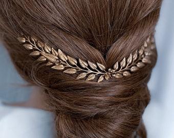 DANISE Gold Hair Vine, Bridal hair style, hair comb, golden headpiece, hair styling, boho headpiece, hair jewelry