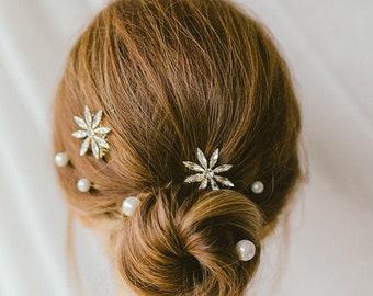 EUGINE Bridal l Hair Pins, Wedding Hair Pins, Bridal Clip, Star Hair Pins, Crystal Hair comb, Wedding Accessories, Bridal Hair Piece