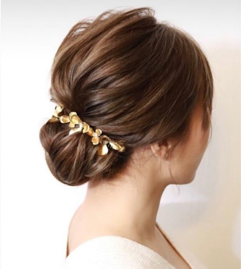 Bridal Hair Comb Bridal Hair Styles Petal headpiece Hair Jewelry bridal headpiece Wedding accessory JAYNE hair comb Women Hair Styles