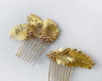 HARVEST Headpieces, Gold Leaf hair comb, Bridal hair wreath, Wedding Accessories, bridal hair piece, Bridal Hair Style, Grape