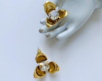 SUZANNE Earrings, bridal earrings, bridal jewelry, wedding jewelry, stud earrings, wedding accessories, crystal earrings, gold jewelry