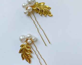 JORDAN - Crystal hair pins, flower headpieces, bridal hair style, bridal jewelry, wedding accessories, hair style, floral hair jewelry