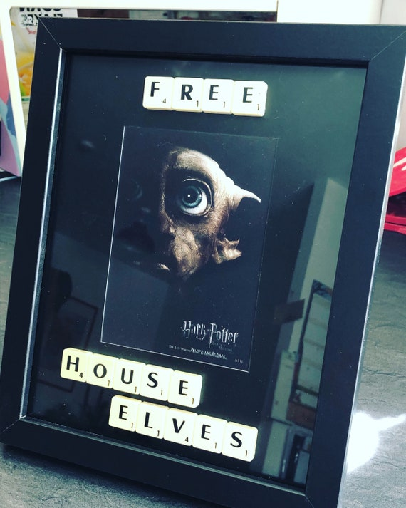 Harry Potter House Elves Quote Picture Frame With Scrabble Etsy