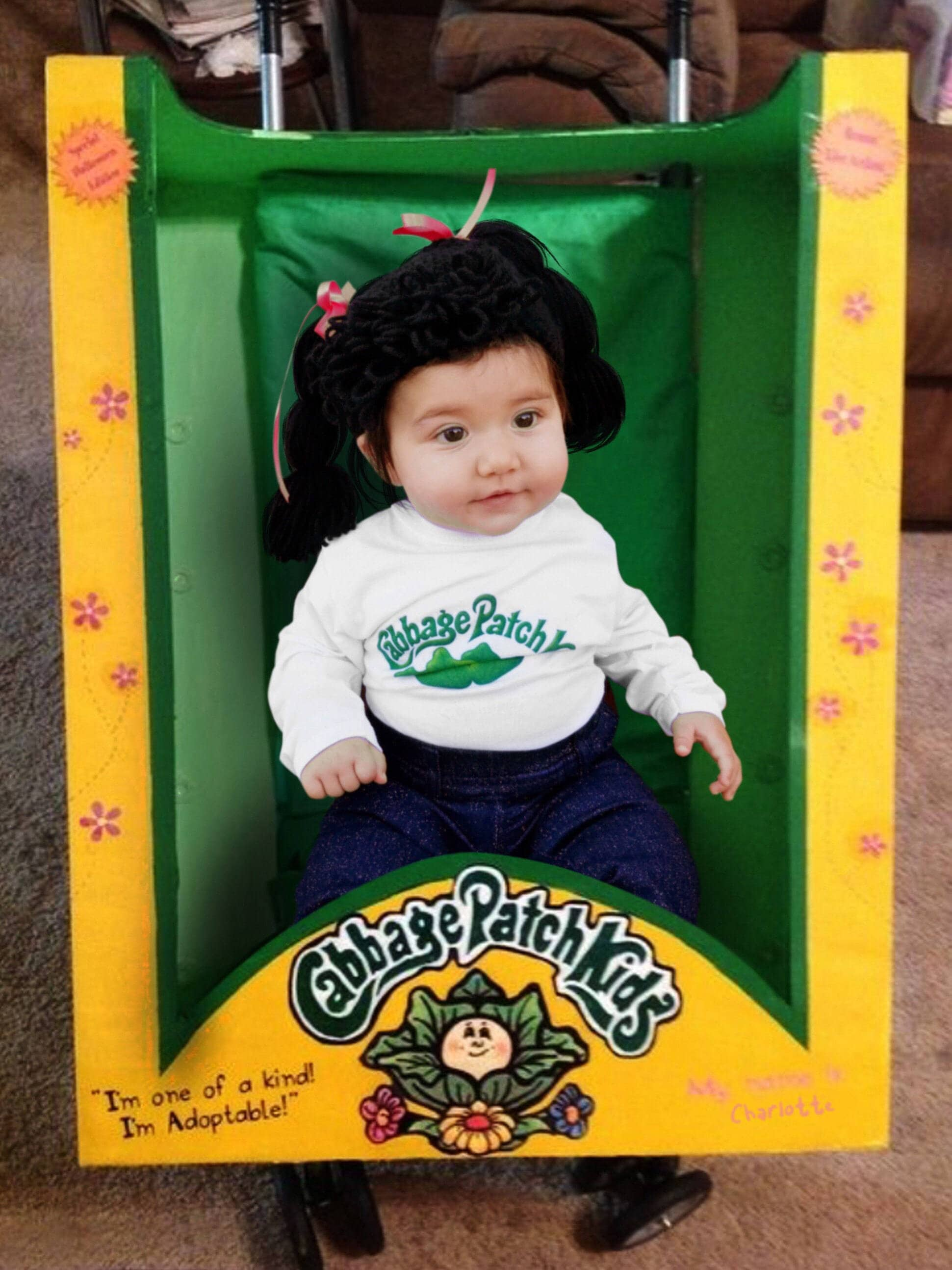cabbage patch kid hat cabbage patch baby 1pc costume cabbage | etsy