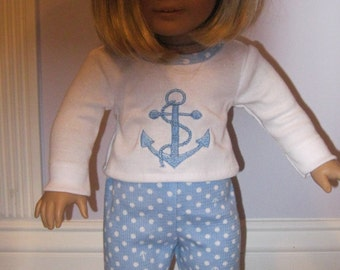 Nautical PJs for 18 inch doll 53e128ce4