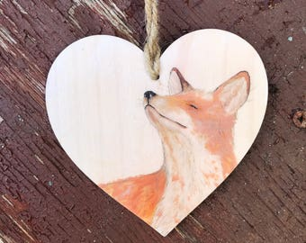 Fox Wooden Hanging decoration