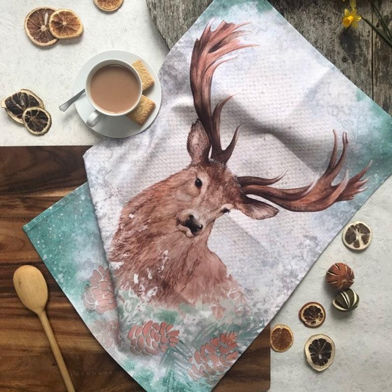 Stag Cotton Tea Towel image 0