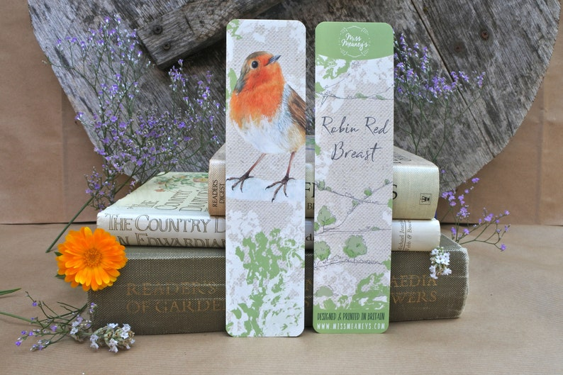 British Robin Bookmark image 0