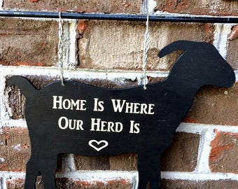 GOAT Garden Flag | Goat Sign | Farm Garden Flag | Mailbox Sign | Farmhouse Decor | Farm Decor | Garden Decor