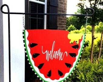 WATERMELON Garden Flag | Summer Garden Flag | Welcome Garden Flag | Mailbox Sign