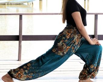 Harem Pants  maxi pants Rayon Pants Hippie Pants Hippie Gypsy Pants Flower Floral bohemian clothes womens yoga pants Trouser