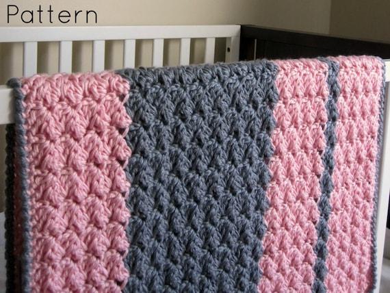 Chunky Preppy Baby Reversible Crochet Blanket Pattern Etsy