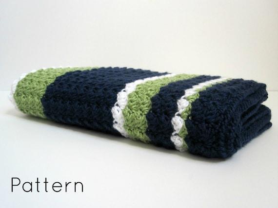 Preppy Baby Reversible Crochet Blanket Pattern Etsy