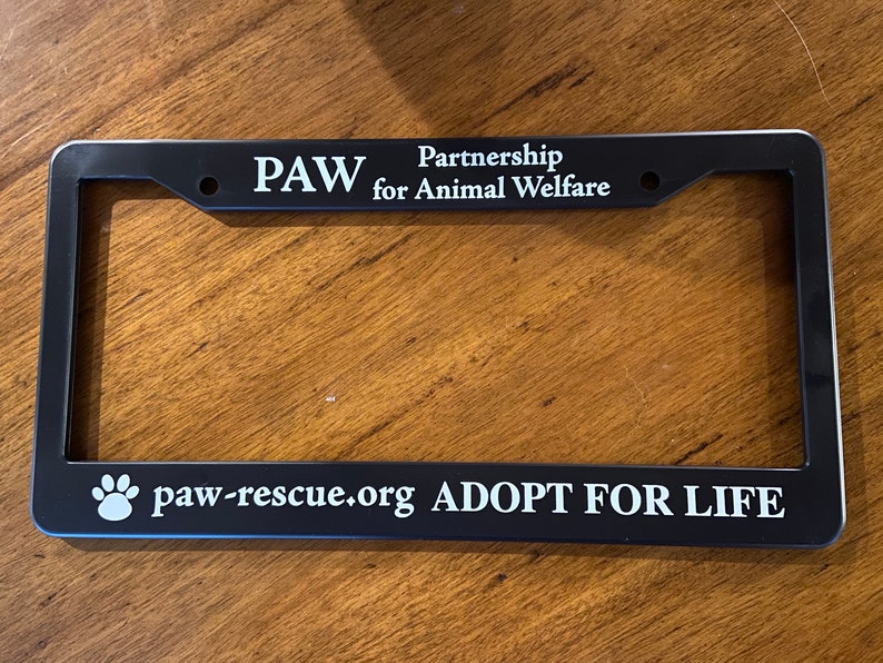 PAW License Plate Frame image 0