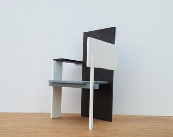 Miniatuur Rietveld Stoel : Rietveld stoel etsy