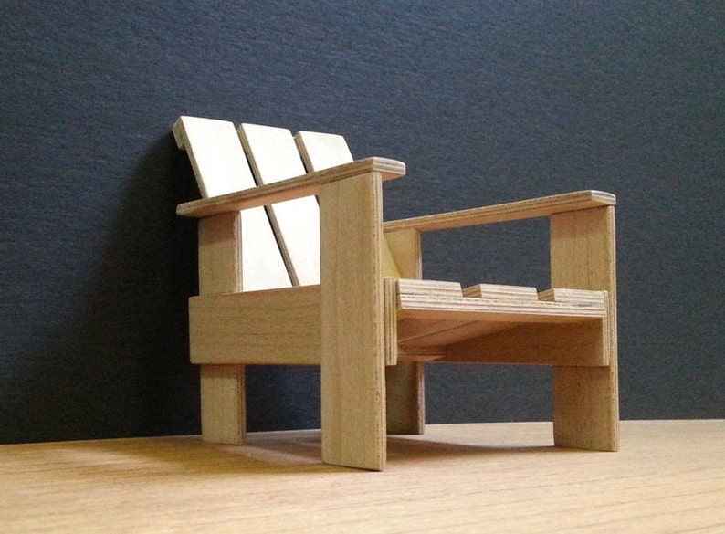 Surprising Gerrit Rietveld Crate Chair 1 6 Collectable Miniature Furniture Model Replica Modern Art Design 30S Famous Chairs Download Free Architecture Designs Scobabritishbridgeorg