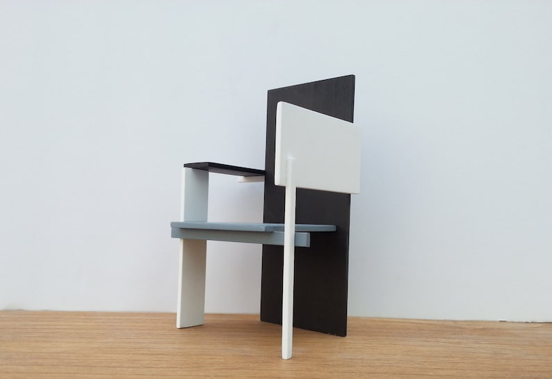 Puppenhaus 1/12 Miniatur Möbel handgemachte hölzerne Küche Tisch Stühle Puppenstuben & -häuser