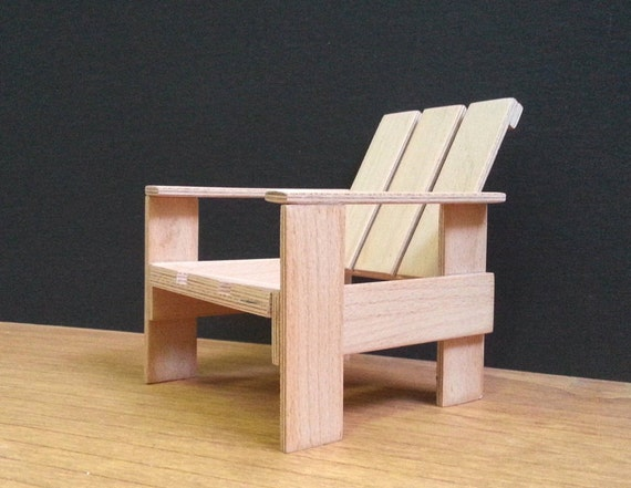Miniatuur Rietveld Stoel : The making of de miniatuur steltman stoel van gerrit rietveld