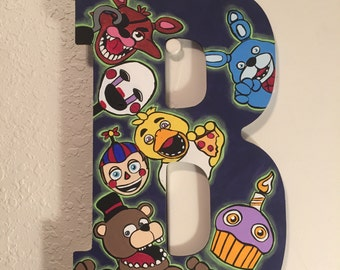 "Hand Painted ""Five Nights at Freddy's"" Custom Letter"