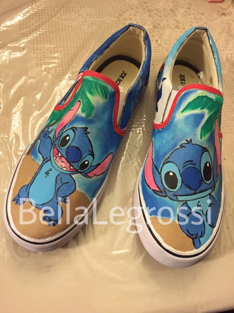 18cbef07caba4 Hand Painted Stitch Sneakers