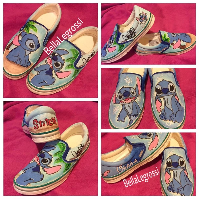 71ce5fd604a79 Hand painted Stitch Sneakers