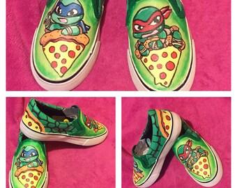 Hand Painted Teenage Mutant Ninja Turtles Sneakers