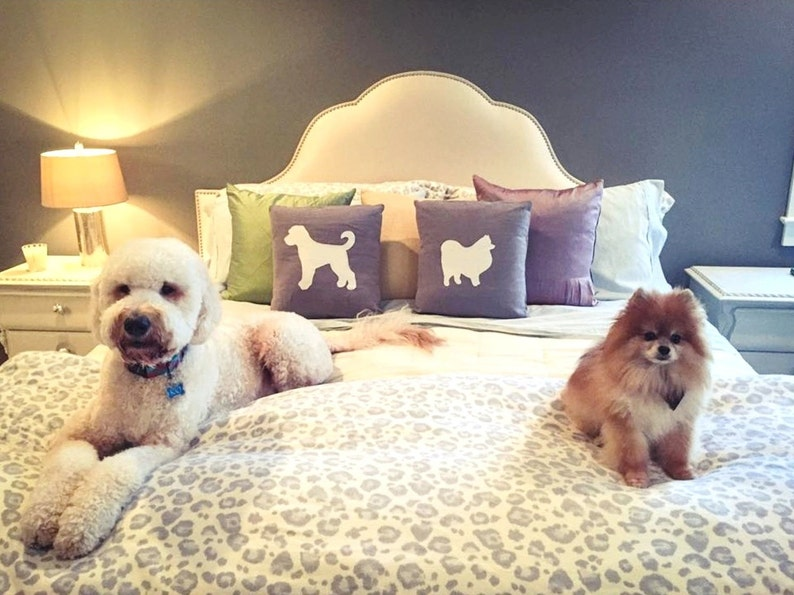 Dog Pillow Cover Pair  Mix & Match Breed image 0