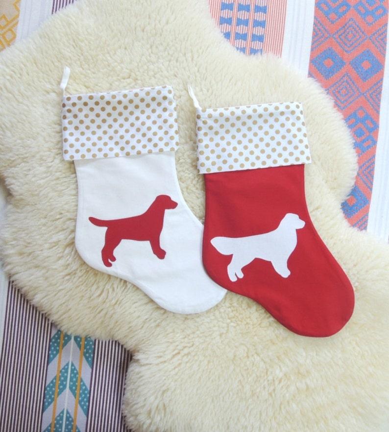 Dog Christmas Stocking  Customize Breed Silhouette image 0