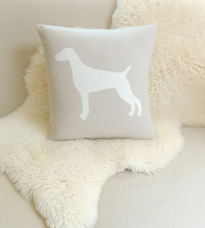 Weimaraner Dog Pillow Cover image 0