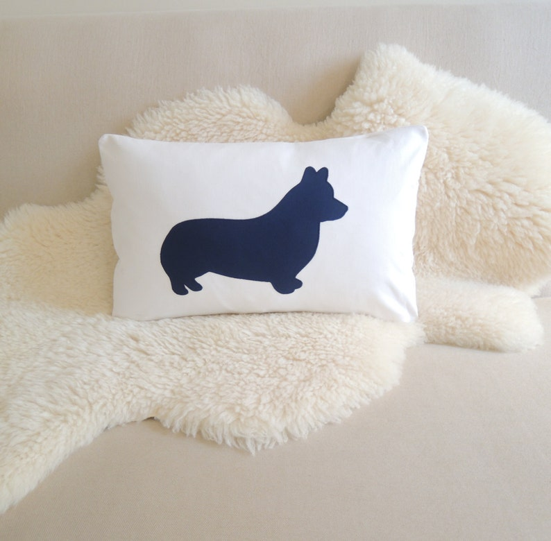 Corgi Pillow Cover  Custom Colors image 0