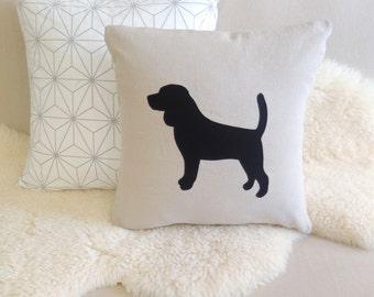 Beagle Appliqué Pillow Cover - Custom Colors