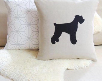 Giant Schnauzer Pillow Cover - Floppy or Pointy Ears