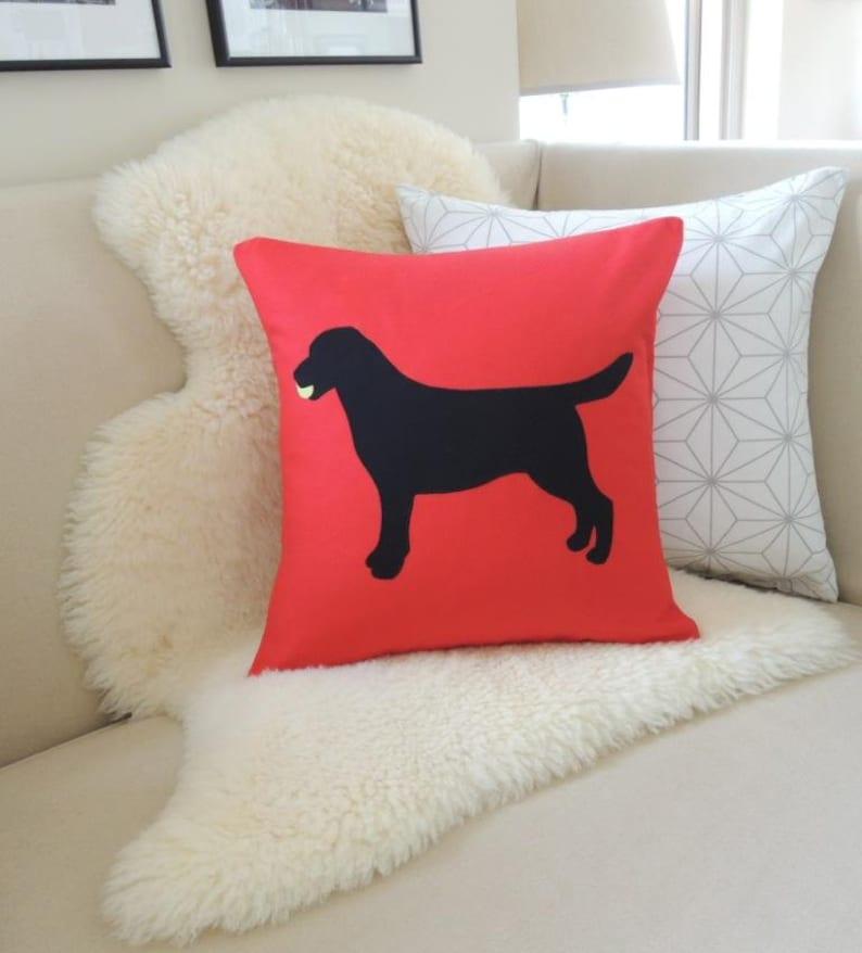Labrador Retriever with Tennis Ball Pillow Cover image 0