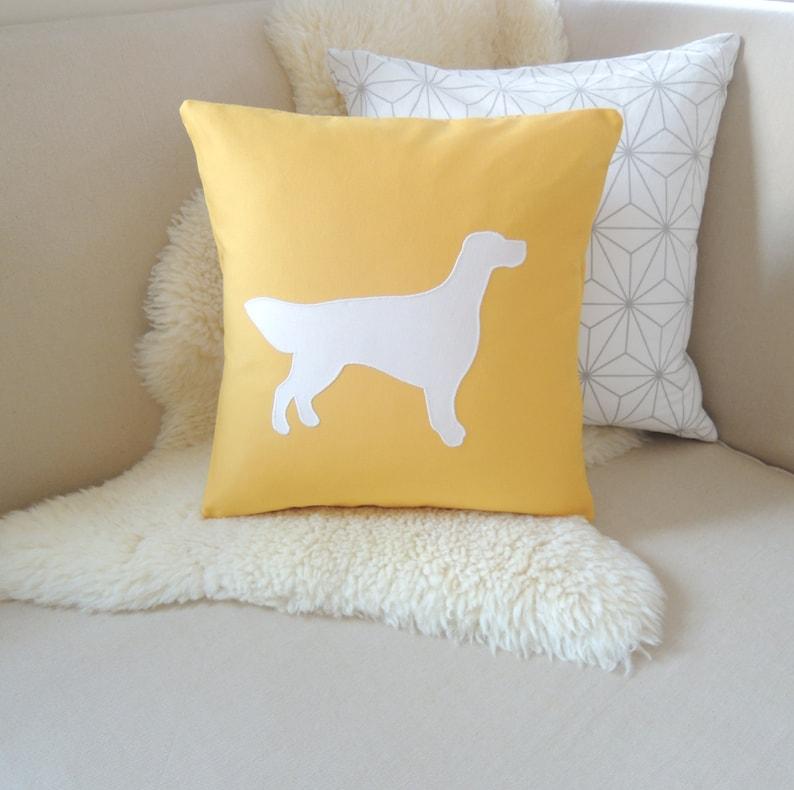Irish Setter Pillow Cover  Custom Colors image 0