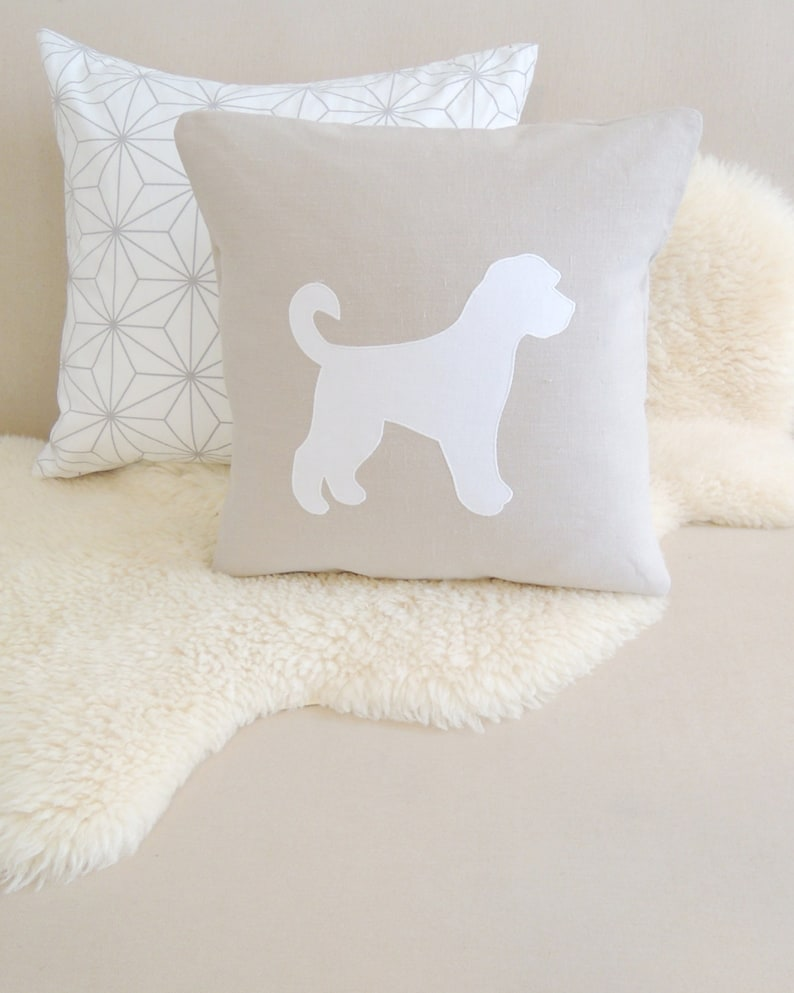 Goldendoodle Pillow Cover  Customize Colors image 0