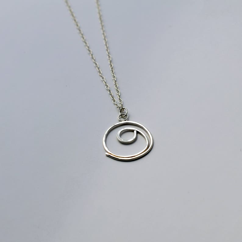 Silver Gratitude necklace gratitude symbol thanksgiving image 0
