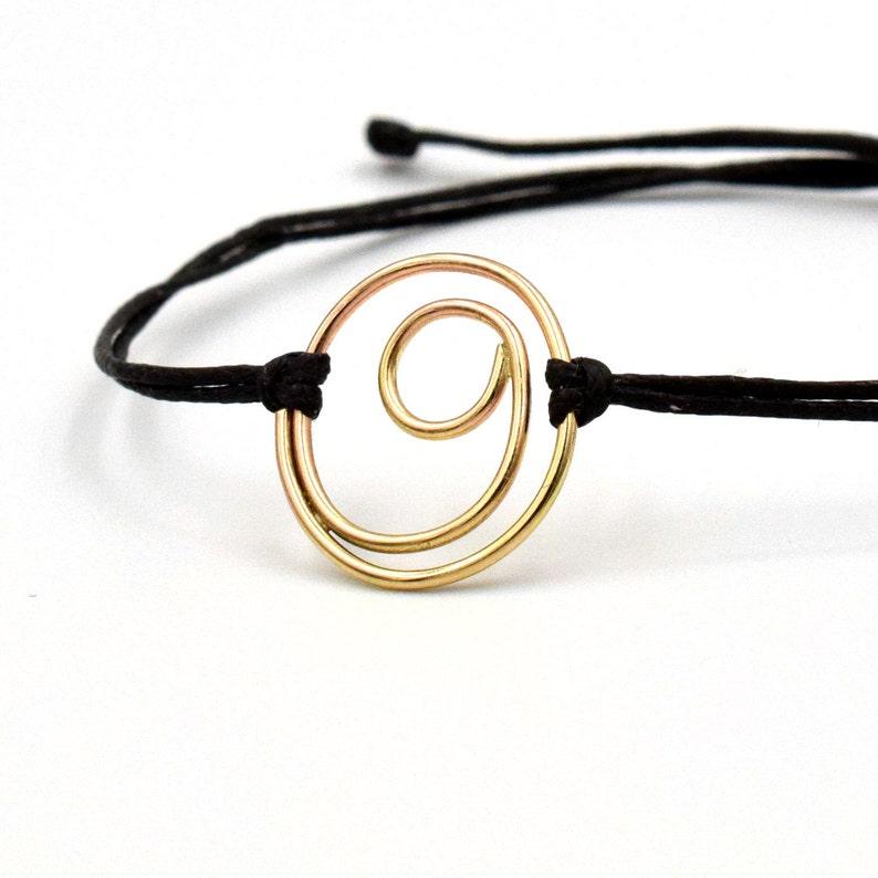 Large Gold Filled Gratitude bracelet symbolic minimalist image 0